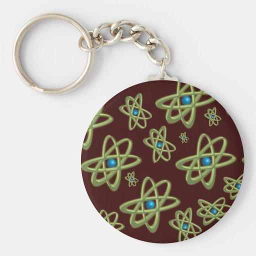 Green Atoms Keychain