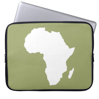 Green Audacious Africa Laptop Sleeve