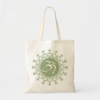 Green AUM Organic Planet Canvas Bags