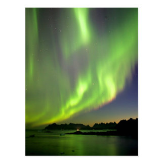 Green Aurora Post Card
