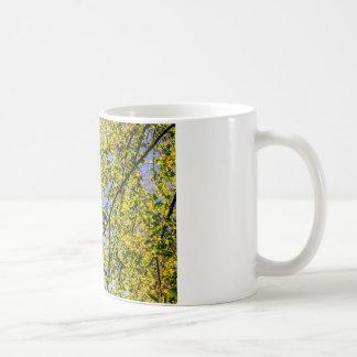 Green Autumn Leaves And A Blue Sky Coffee Mug