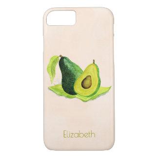 Green Avocado Still Life Fruit in Watercolors iPhone 8/7 Case