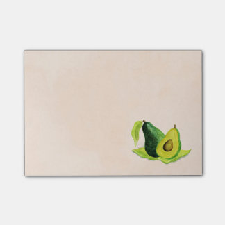 Green Avocado Still Life Fruit in Watercolors Post-it Notes