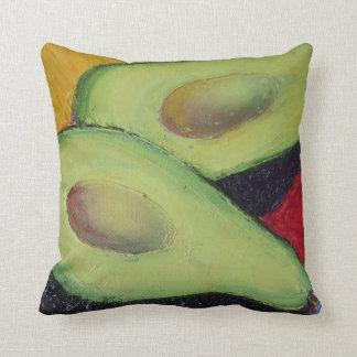 Green Avocado Throw Pillow