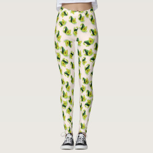 277a19a24e01c Green Avocados Watercolor Pattern Leggings