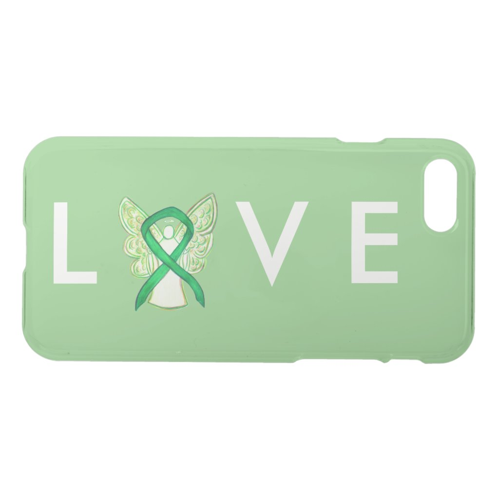 Green Awareness Angel Ribbon Custom iPhone 7 Case
