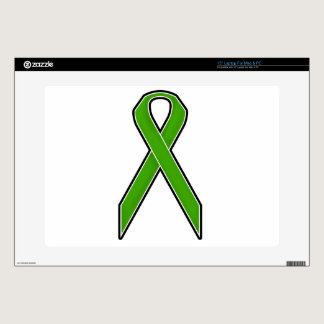 "Green Awareness Ribbon 15"" Laptop Skin"