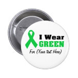 Green Awareness Ribbon 2 Inch Round Button
