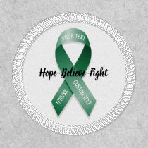 Green Awareness Ribbon Add Your Custom Text Patch