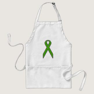 Green Awareness Ribbon Adult Apron