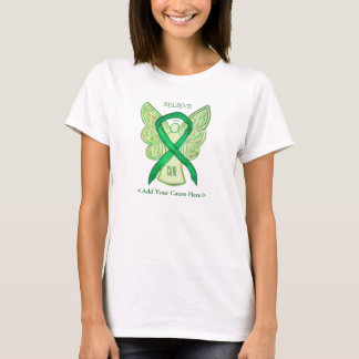 Green Awareness Ribbon Angel Custom Cause Shirts