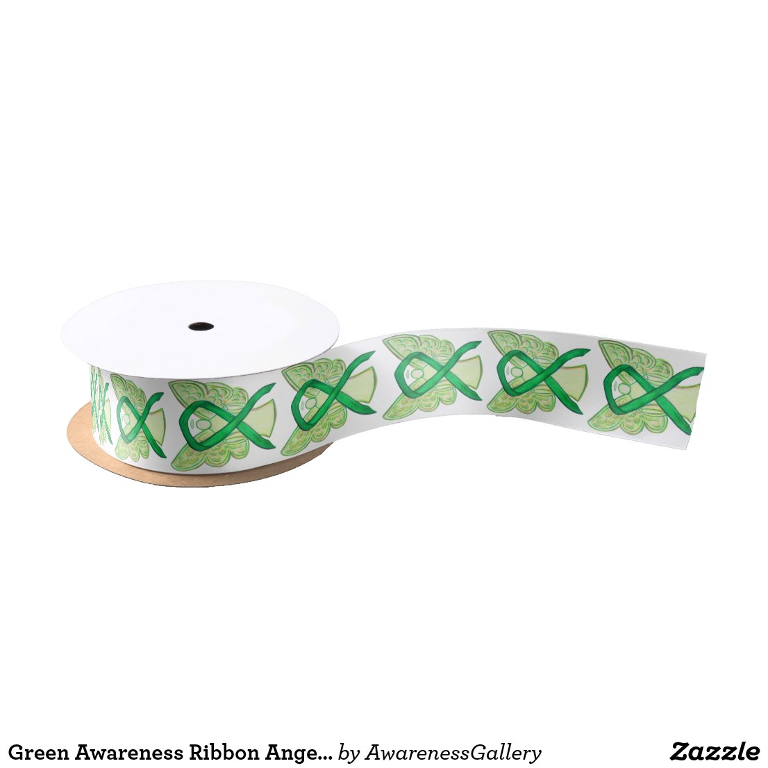 Green Awareness Ribbon Angels Custom Design