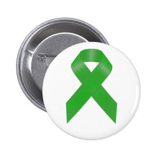 Green Awareness Ribbon Button