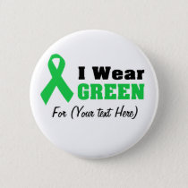 Green Awareness Ribbon Button