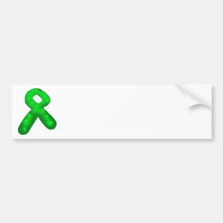 Green Awareness Ribbon Candle Car Bumper Sticker