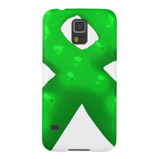 Green Awareness Ribbon Candle Cases For Galaxy S5