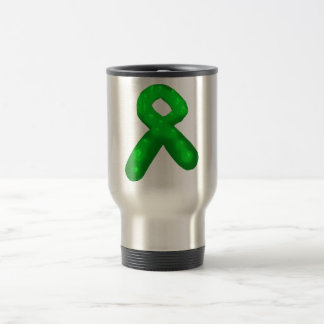 Green Awareness Ribbon Candle Travel Mug
