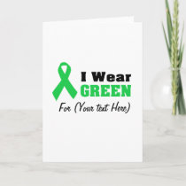 Green Awareness Ribbon Card