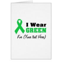 Green Awareness Ribbon Card