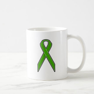 Green Awareness Ribbon Coffee Mug