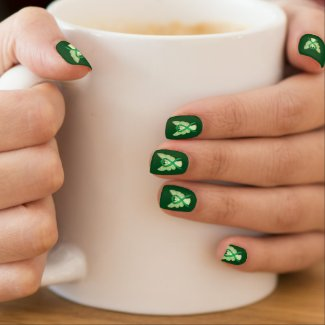 Green Awareness Ribbon Custom Nail Wrap Art
