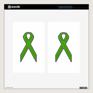 Green Awareness Ribbon Decal For Kindle Fire