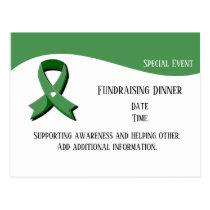 Green Awareness Ribbon Event Postcard