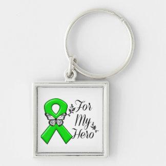 Green Awareness Ribbon For My Hero Keychain