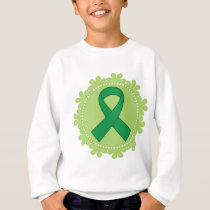 Green Awareness Ribbon Gift Idea Sweatshirt