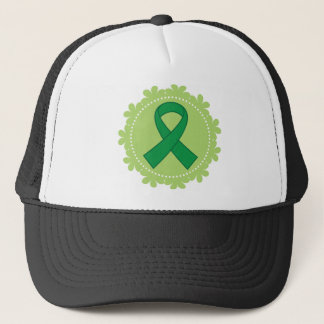 Green Awareness Ribbon Gift Idea Trucker Hat