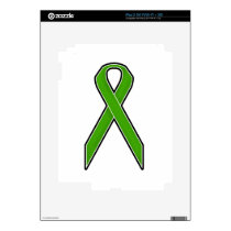 Green Awareness Ribbon iPad 2 Skin