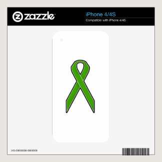 Green Awareness Ribbon iPhone 4S Decals