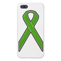 Green Awareness Ribbon iPhone SE/5/5s Case