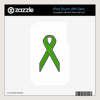 Green Awareness Ribbon iPod Touch 4G Skins