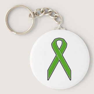 Green Awareness Ribbon Keychain