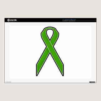Green Awareness Ribbon Laptop Decals
