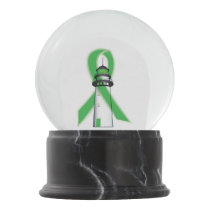 Green Awareness Ribbon Lighthouse of Hope Snow Globe