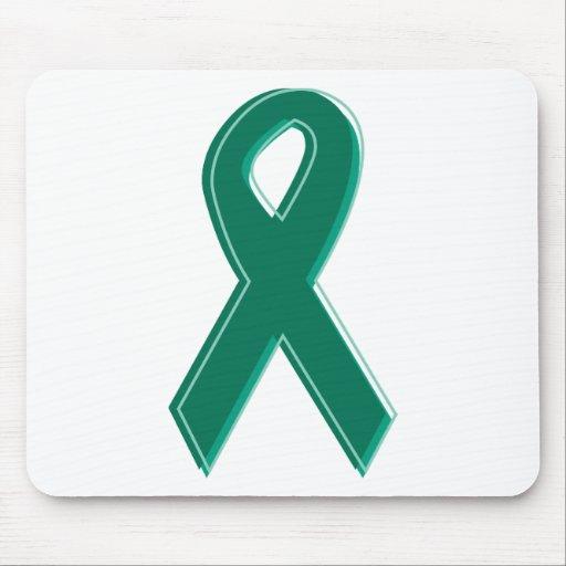 Green Awareness Ribbon Mouse Pad