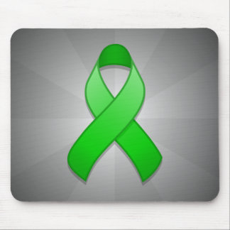 Green Awareness Ribbon Mousepad
