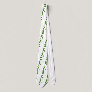 Green Awareness Ribbon Neck Tie