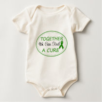Green Awareness Ribbon Together Baby Bodysuit