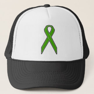 Green Awareness Ribbon Trucker Hat