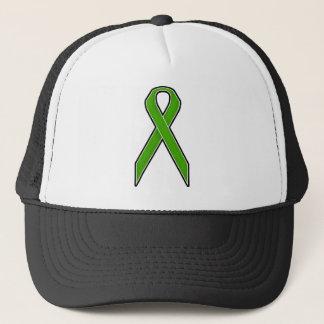 Green Awareness Ribbon Trucker Hat