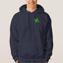 Green Awareness Ribbon with Dove of Hope Hoodie
