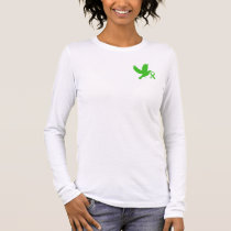 Green Awareness Ribbon with Dove of Hope Long Sleeve T-Shirt