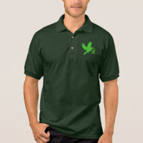 Green Awareness Ribbon with Dove of Hope Polo Shirt