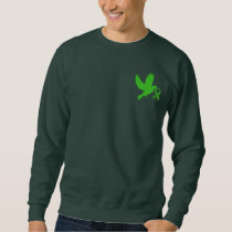 Green Awareness Ribbon with Dove of Hope Sweatshirt
