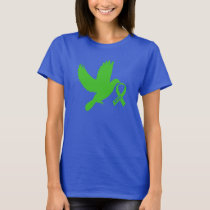 Green Awareness Ribbon with Dove of Hope T-Shirt