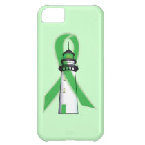 Green Awareness Ribbon with Lighthouse of Hope iPhone 5C Cover