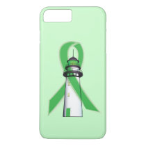 Green Awareness Ribbon with Lighthouse of Hope iPhone 8 Plus/7 Plus Case